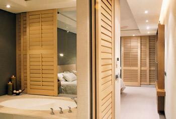 Shutters in Echtholz White Teak