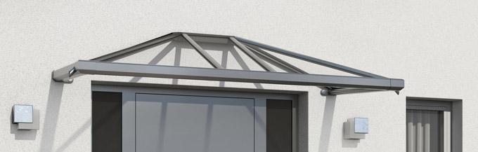 Hochwertige Vordächer aus Aluminium und Edelstahl