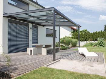 Glasdachsystem TERRADO GP5100 / GP5110. Allwetterschutz für Ihre Terrasse und das Feriengefühl zu Hause.